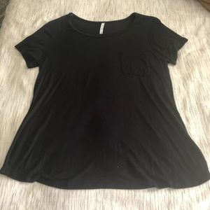 Plain black shirt with front pocket